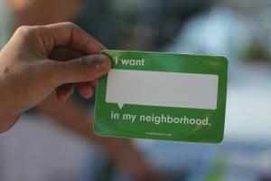 I Want Neighborhood Badge