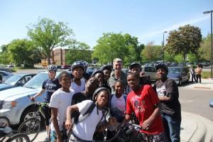 Laney students with Mayor Rybak