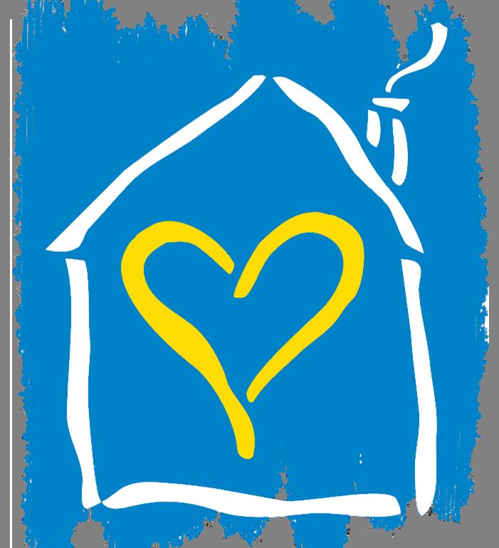 Logo with brush strokes