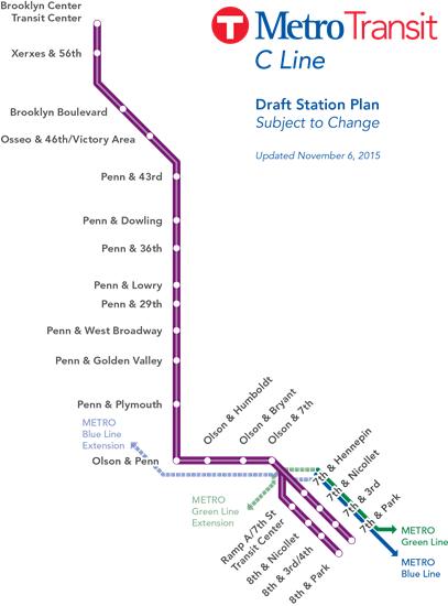 BRT C-Line Route