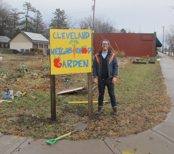 Eric Wilson, Our GreenCorps Member, at the garden